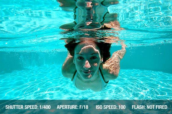 Underwater Photography - Woman swimming underwater