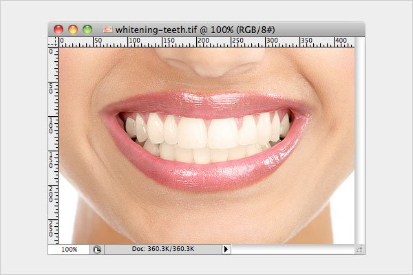 Whitening Teeth Image Editing Tutorials