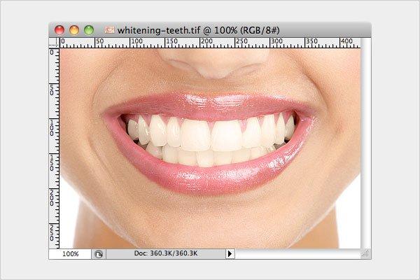 Whitening Teeth Step 1