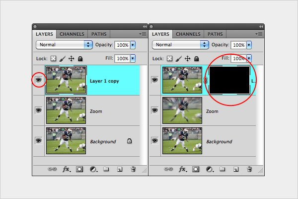 Zoom Blurring Technique Step 3